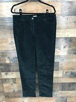 J.Jill Women's Black Corduroy Flat Front Pants Size 12