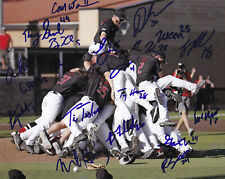 2018 Texas Tech Red Raiders Signed Team Photo 8x10 CWS College World Series Jung