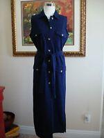 Merona Women's Denim Navy/Blue 100 % Cotton Sheath Sleeveless Dress Size M NWOT