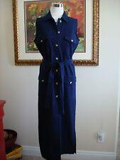 Merona Women's Denim Navy 100% Cotton Sheath Sleeveless Dress Size M NEVER WORN!