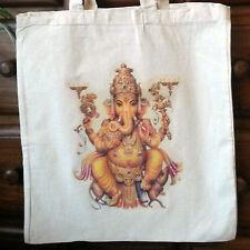 Algodón Color Crema Ganesha ecológico Bolso de mano NATURALES Shopper