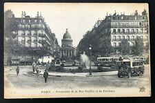 Vintage RPPC Postcard Paris, France Perspective the street Soufflot Partheon