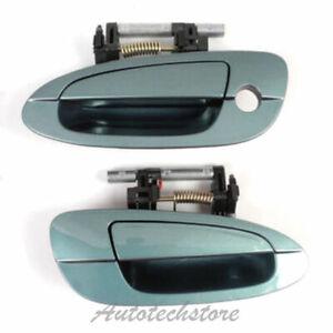 Front Pair Set Outside Door Handle For 02-06 Nissan Altima Neptune Met FY0 DS232