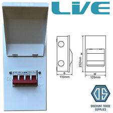 125 Amp Changeover Switch 230v Mains to Generator Transfer Metal Enclosure 125A