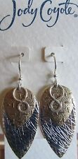 Jody Coyote Earrings JC0683 new hypoallergenic Solstice QG010 silver gold 2