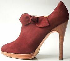 new $790 ALEXANDRA NEEL brown suede platforms ANKLE BOOTS 36.6 6.5 - FABULOUS