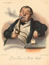"Honore Daumier Reproductions: ""A True Smoker"": Fine Art Print"