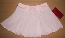 NWT Mirella Dance Ballet Lace Trim Flutter Hem Skirt Pink Girls 8/10 MS82C