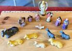 Antique German Putz Paper Mache Small Scale Nativity Scene
