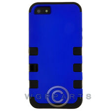 Apple iPhone 5/5S/SE TUFF Hybrid Case - Blue Cover Shell Protector Guard Shield