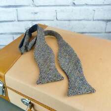 Handmade Harris Tweed Self Tie Bow tie - Multi Autumnal Colours Herringbone