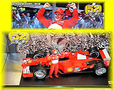 FERRARI F 2001 52.grand PRIX Wins #1 SPA FRANCORCHAMPS SCHUMACHER 1:18 Hot Wheel
