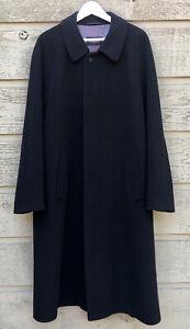 Vtg elegant maroon wool BUGATTI men long coatelegant long wool coat brown sizel chest 50