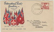 Australia 1948  FDC  Int.Scout Jamboree issue on Miller cachet cover