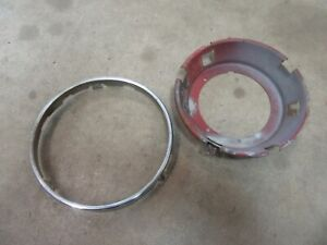 1967 Volkswagen Karmann Ghia exterior front headlight cup and trim ring