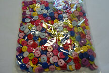 APPROFITTA  STOCK *1000* BOTTONI IN  resina mm 9  COL MISTI 2 FORI  BUTTONS