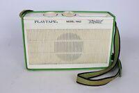 UNTESTED Vintage Playtape Hipster Mod. 1442 Green Portable Cassette Player Japan