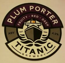 TITANIC brewery PLUM PORTER real ale beer pump clip badge front Staffordshire