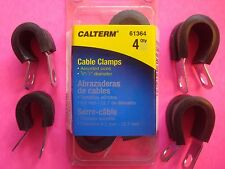 """CABLE CLAMPS WIRE FUEL HOSE BATTERY METAL CLIPS RUBBER INSULATED 2 1/2"""" 2 3/8"""""""