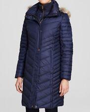 Marc New York Women Kendall Fur Trim Chevron Puffer Coat Size S