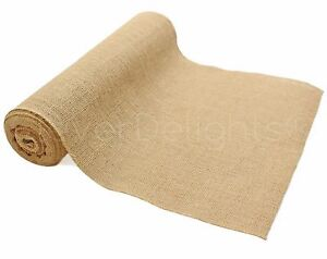 "14"" Premium Burlap Roll - 10 Yards - Finished Edges - Natural Jute Burlap Fabric"