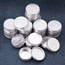 30Pcs Aluminum Round Tins Empty Slip Slide Round Container Bottle with Screw Lid
