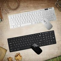 Slim Wireless 2.4G Keyboard + Mouse Set + USB Receiver + Film for Mac PC Laptop