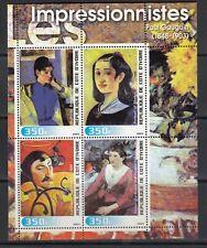 Paul Gauguin Painting Impressionism Art 2003 Ivory Coast MNH 4 v set  perf