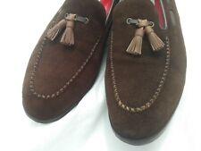 DON'S ELEVATOR SHOES HAND MADE SUEDE TASSLE LOAFER SIZE 11 US ONLY $50