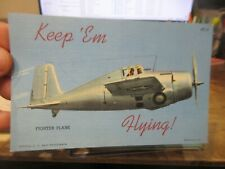 Other Old Postcard Airplane Plane Aircraft Army Fighter Plane Wwii Pilots War