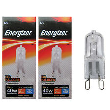 2x Energizer G9 Eco 33W 40W Bombilla Cápsula Halógena 460 Lúmenes 220V