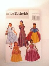 Butterick 4320 Size 7-14 Girls' Classic Character Snow White Dorothy Princess