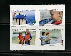 B827  Sweden  2007   fish  children fishing  block    MNH