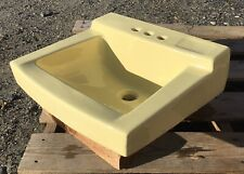 Vintage 1965 Saffron Yellow American Standard Bathroom Sink -Wall Mount