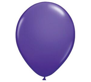 """Solid Purple Latex Balloons One Dozen 11"""" High Quality"""