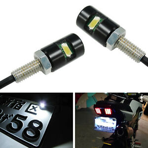 12V White 5730-SMD Bolt-On LED License Plate Lights For Motorcycle Bike or Car