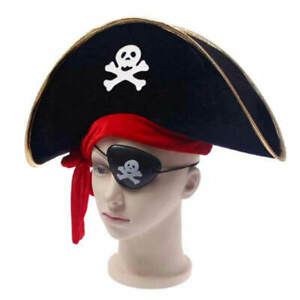 Caribbean pirate hat Halloween accessories skull hat skull pirate hats for kids