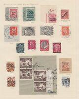 Bayern - Stempel-Lot mit nachverwendeten Stempeln (1923-1948) - bitte ansehen !!