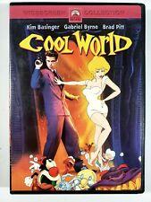Cool World (DVD, 1992) Widescreen - Brad Pitt - Kim Basinger - Gabriel Byrne GC