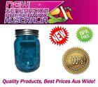 12 x Aussie mason Blue Regular Mouth Pint Preserving bottles & Lids, Ball mason