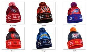 NFL Big Logo Light Up Printed Beanie Hat -Select- Team Below