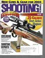 Shooting Times Gun Reviews January 2003 New Guns and Gear, Shooting Reports