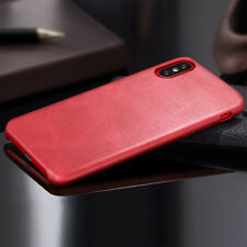 Retro Vintage Ultra Thin Slim Back Soft Leather Cover Case for iPhone X 10