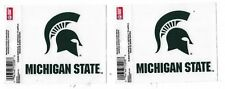 """MICHIGAN STATE """"SPARTANS"""" SET 0F TWO 3.5"""" X 3.5"""" STATIC CLING DECALS"""
