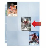 (100) Ultra Pro 9 Pocket Side Loading Premium Trading Card Album Pages Side Load