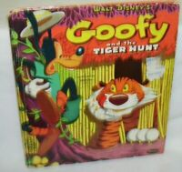 Disney's Goofy and the Tiger Hunt Whitman Tell A Tale Book 1954