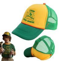 Stranger Things 3 Dustin Hat Retro Mesh Trucker Cap Yellow Green 85 Know Where