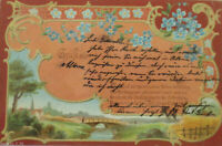 """""""Gruss aus, Spruch"""" 1900 ♥"""