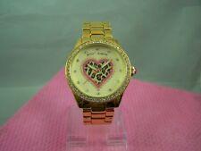 Betsey Johnson Leopard Heart  Quartz Watch