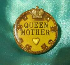 OOAk Hand Made Miximal Signed Vintage 'Queen Mother'  XX Sweet Brooch 151J8